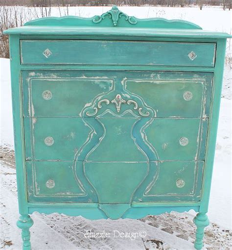 Turquoise Painted Dresser by Turquoise Highboy Dresser Painted Furniture