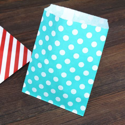 Craft Paper Bag - chevron paper bag chevron dot stripe treat craft