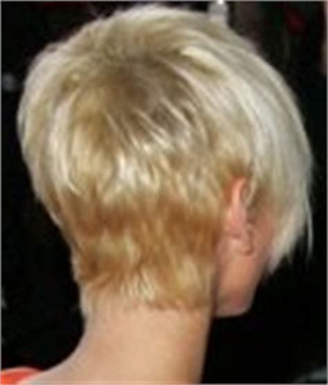 sarah harding hairstyle back view sarah harding s pixie cut with a close cropped back