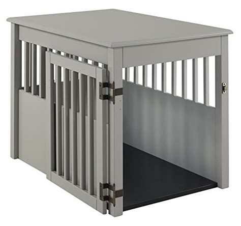 pet crate end table large barkwood large pet crate end table grey finish wood