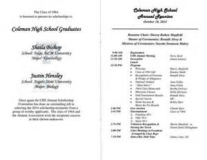class reunion program template other sles
