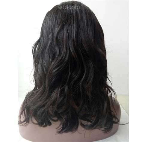 Lace front wigs brazilian hair wavy bob wig natural color