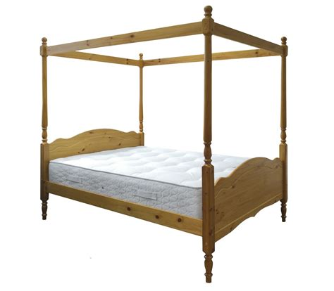 Pine Four Poster Bed Frame King Size 5ft Veneza Princess Four Poster Bed Frame