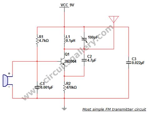 single transistor fm transmitter circuit diagram most simple fm transmitter circuit diagram circuits gallery