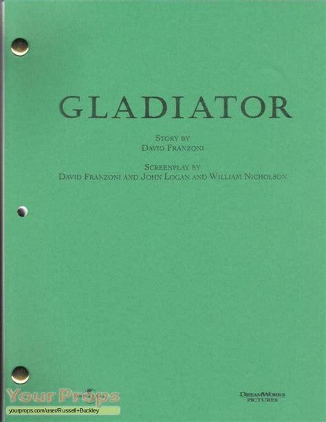 gladiator film script gladiator script motion picture academy version original