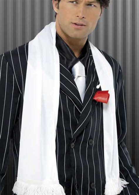 20s gangster fancy dress white scarf
