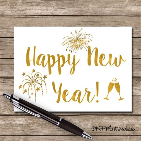 printable greeting cards for new year printable happy new year greeting card okprintables