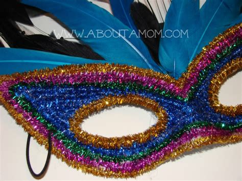 How To Make A Mardi Gras Mask Out Of Paper - diy mardi gras mask