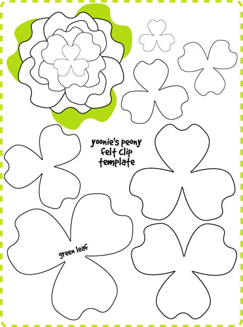 pinterest flower template felt flowers patterns and paper