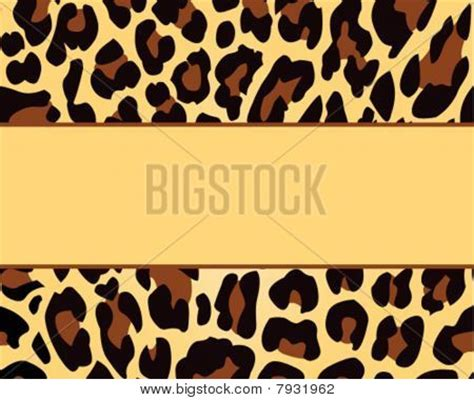 animal print template leopard print card background template stock photo stock