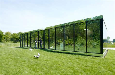 mirrored house reflective mirror house by johan selbing anouk vogel