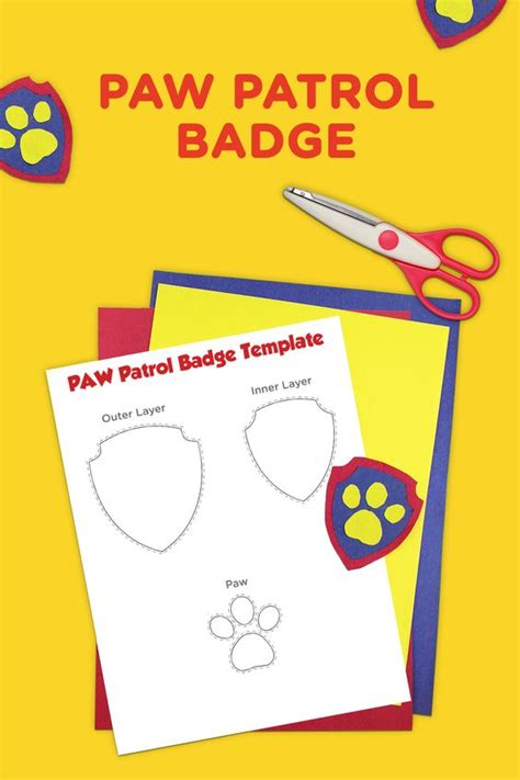paw patrol templates paw patrol printable badge template bags stand for and
