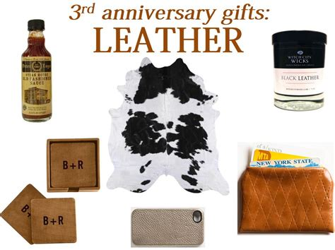 third wedding anniversary leather ideas fresh basil 3rd anniversary gifts leather