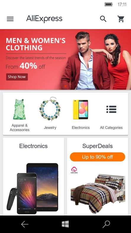aliexpress shopping app ufficiale arriva sui pc tablet