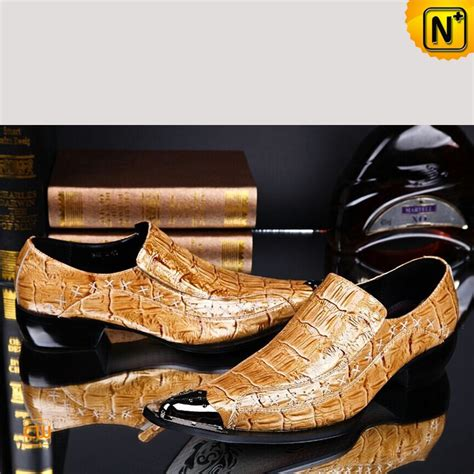s embossed patent leather dress shoes yellow cw751528