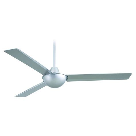 modern ceiling fan without light in silver finish f833