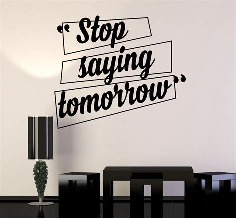 stick something to wall vinyl wall decal motivation quotes office home inspiration
