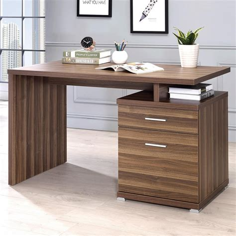 coaster contemporary desk with cabinet rife s home