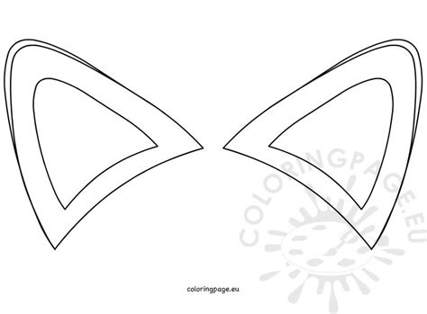 printable animal ears fox ears template coloring page