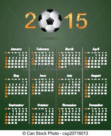 Calendario Futbol Vector Clip De Textura Lino Verde 2015 Calendario