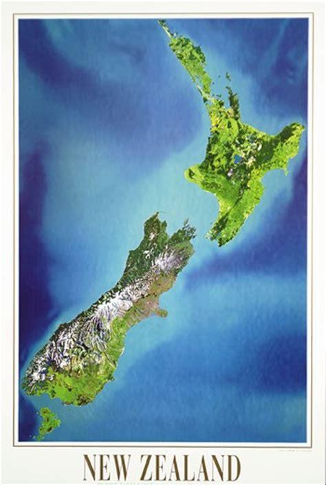 satellite image map   zealand