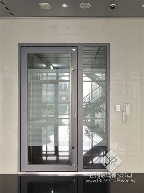 單扇 180度 推開防火玻璃門 固定窗 夾式鎖 取代陽極鎖