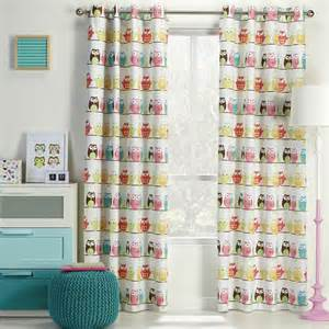 Girls Bedroom Curtains koo mc owl block out eyelet curtains multicoloured
