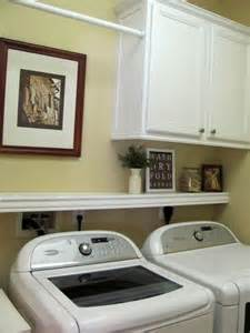 Hanging Laundry Room Cabinets Laundry Room Ideas Cabinet Shelf And Hanging Rod I Like This B C It Still Allows The Dryer
