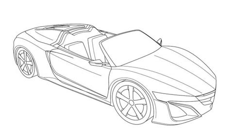 sports car drawing sports car coloring pages coloring pages ideas reviews
