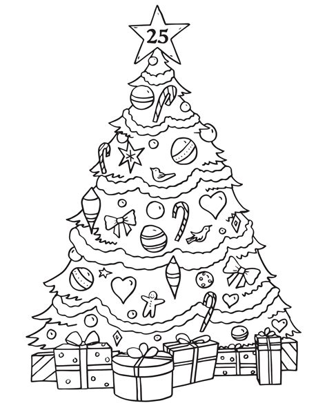 christmas tree advent calendar coloring page christmas tree advent calendar coloring page