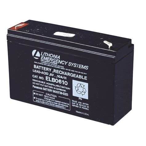 Baterai Lu Emergency 6 Volt Lithonia Lighting Elb 0610 6 Volt Emergency Replacement Battery Elb 0610 The Home Depot