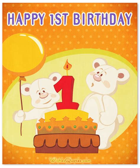 Baby Happy Birthday Card 1st Birthday Wishes And Cute Baby Birthday Messages