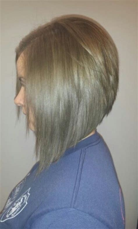 long graduated layers with a side angled or sweeping bang cute graduated bob haircut for girls short hairstyles