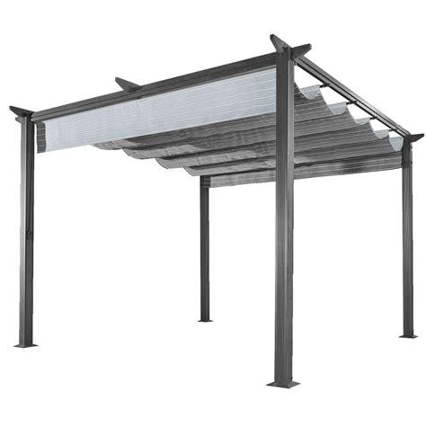 terrasoverkapping aluminium karwei firenze paviljoen 300x300x225cm zwart gestreept parasols