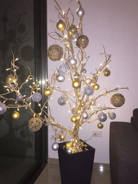 decorar ramas secas para navidad de arbol decoraci 243 n para navidad con ramas secas