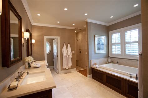 Master Suite Bathroom Ideas Colonial Master Suite Traditional Bathroom By Loftus Design Llc