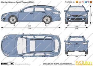 the blueprints vector drawing mazda 6 atenza sport