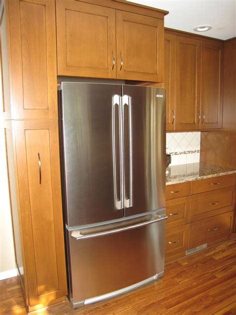 kitchen cabinets around refrigerator refrigerator surround cabinets re cabinet depth