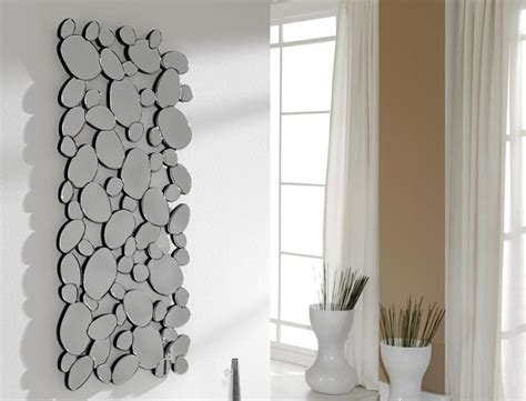 Modern Many Pebbles Shaped Rectangular Wall Mirror