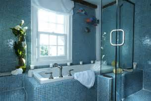 Blue Bathroom Design Ideas Blue Tiled Bathroom Ideas Decobizz Com