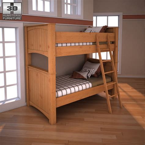 Stages Loft Bed by Stages Bunk Bed 3d Model Furniture On Hum3d
