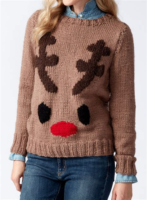 knitting pattern reindeer jumper holiday wear knitting patterns in the loop knitting