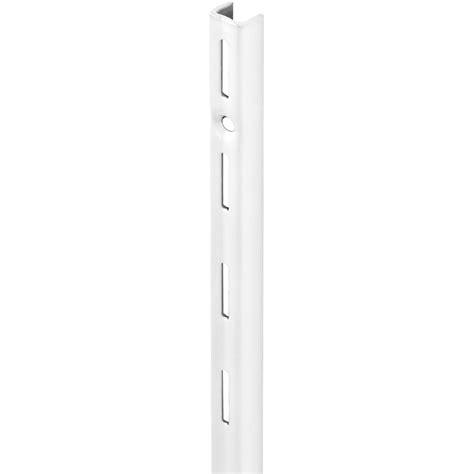 Adjustable Shelf Track by Single Slot Upright White 495mm Mastershelf