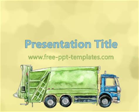 Waste Management Ppt Template Free Powerpoint Templates Waste Management Powerpoint Template