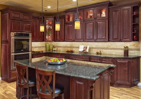 kitchens with cherry cabinets rta cabinets home decor and interior design