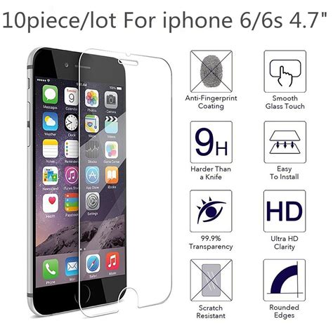 Tempered Glass Iphone 8g 4 7 5d Color Cover 10 pieces 4 7 quot 2 5d 0 3mm for alppe iphone 6 premium