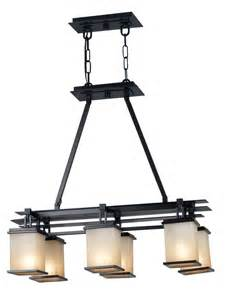 Pendant Light Fixtures For Kitchen Island by Kenroy Home 90386orb Plateau Island Light
