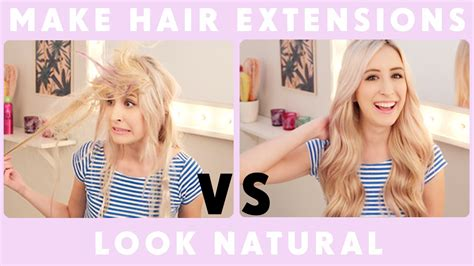 how can i get my hair ut like tina feys how to make hair extensions look natural youtube
