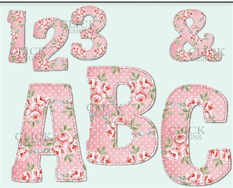 printable letters etsy shabby pink alphabet digital clipart letters numbers