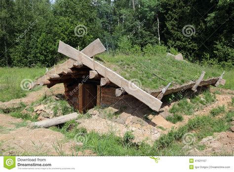 Traditional House Plans by Dugout Shelter Stock Photo Image 41621107